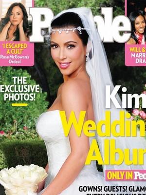 קים קרדשיאן באחת מתמונות החתונה הבלעדיות ל People Magazine