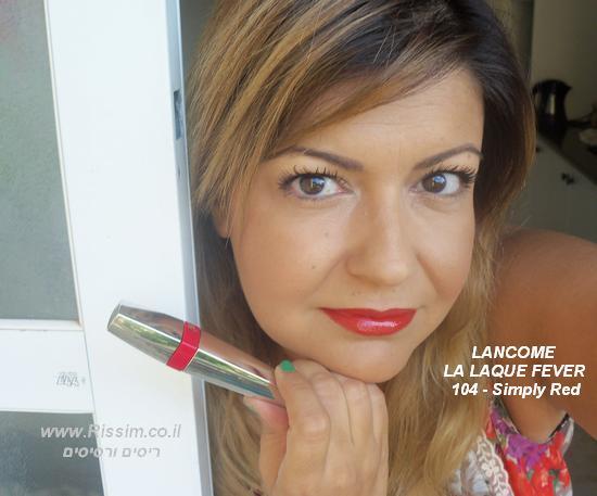 שפתון עמיד LA LAQUE FEVER של לנקום בגוון 104 - Simply Red