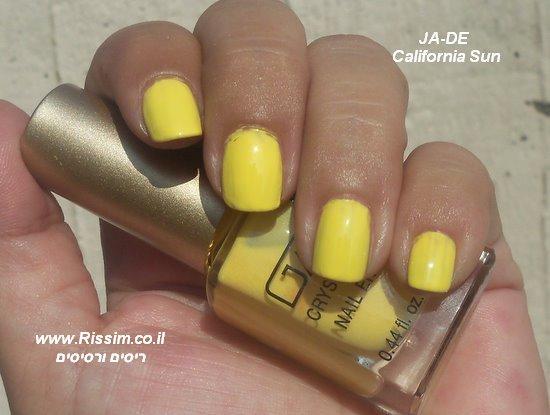 JA-DE California Sun - לק צהוב של ג'ייד