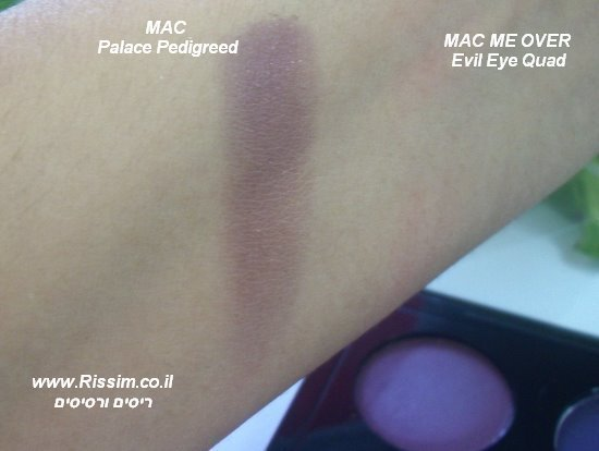 MAC ME OVER EVIL EYE QUAD SWATCHES