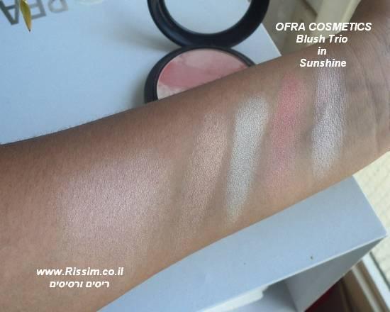 שימר דחוס של חברת OFRA בגוון OFRA Blush Trio in Sunshine - Sunshine