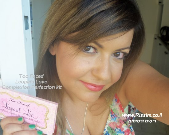 my makeup with Too Faced Leopard Love Complexion Perfection kit