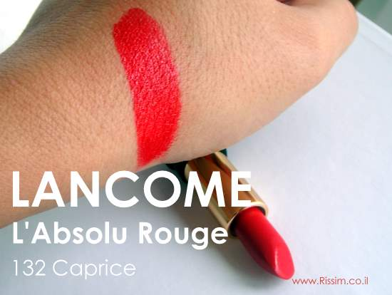 Lancome L'Absolu Rouge 132 Caprice swatches