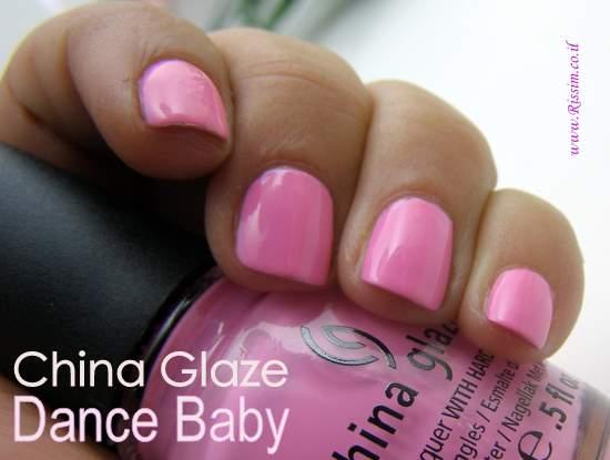 China Glaze Dance Baby swatches