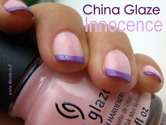 China Glaze Innocence swatches