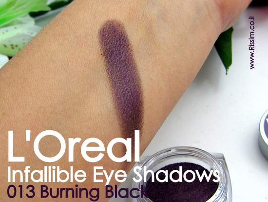 LOreal Infallible Eyeshadows 13 Burning Black swatches