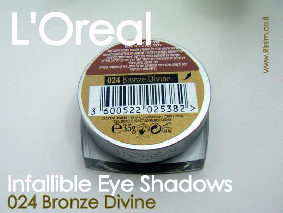 LOreal Infallible Eyeshadows 24 Bronze Divine