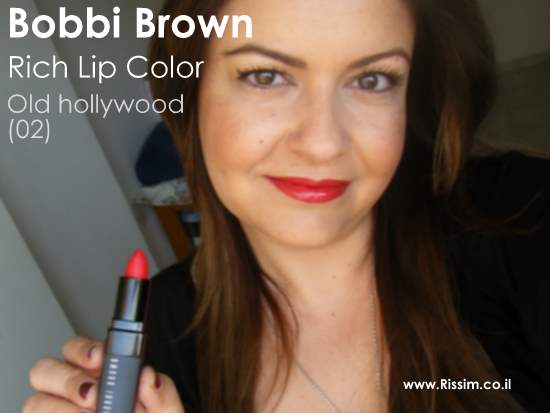 Bobbi Brown 02 - Old hollywood swatch on lips