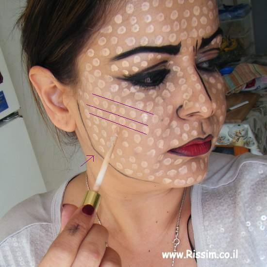 pop art girl makeup inspiration