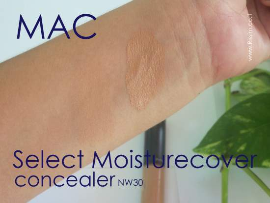 MAC Select Moisturecover Concealer NW30 SWATCHES