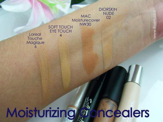 MOISURIZING CONCEALERS SWATCHES
