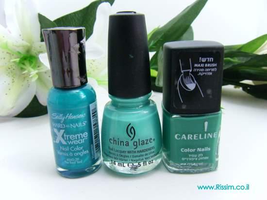 turquoise nail polishes