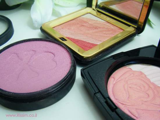 3pale pink blushes-shimmers