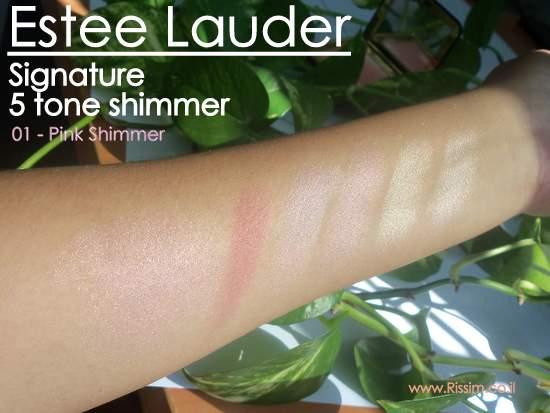 Estee Lauder Signature 5 tone shimmer - 01 - Pink Shimmer