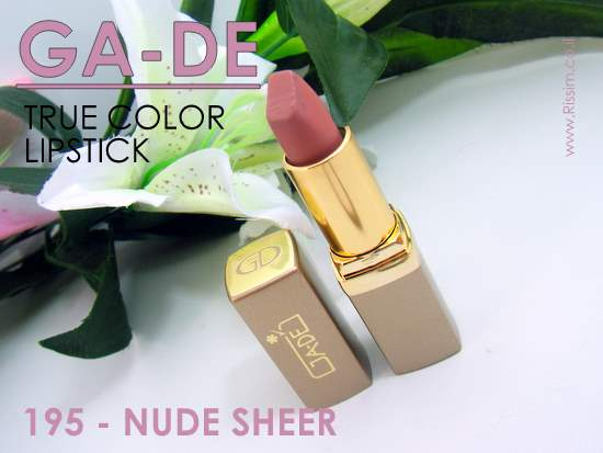 GADE TRUE COLOR LIPSTICK 195 NUDE SHEER