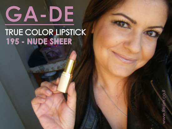 GADE TRUE COLOR LIPSTICK 195 NUDE SHEER ON LIPS