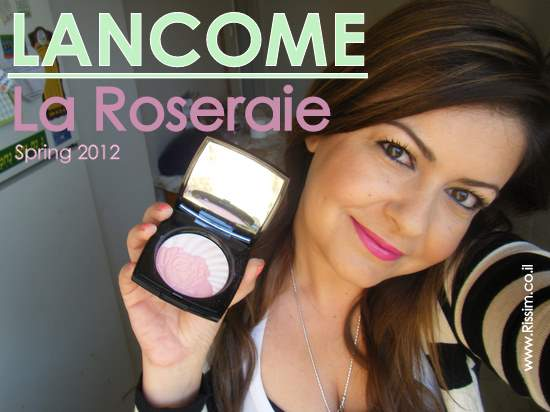 my makeup with LANCOME La Roseraie