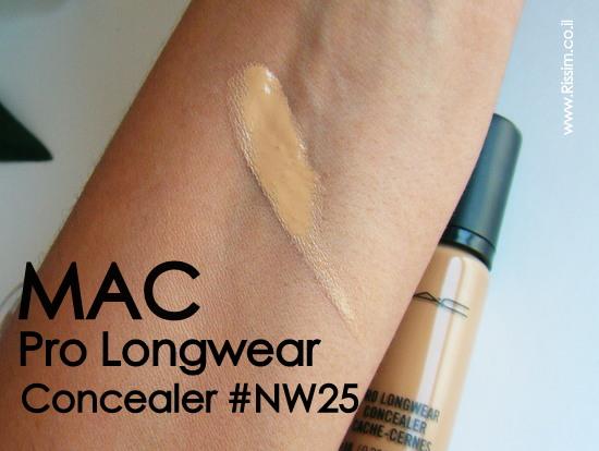 mac pro longwear concealer nw25 swatch