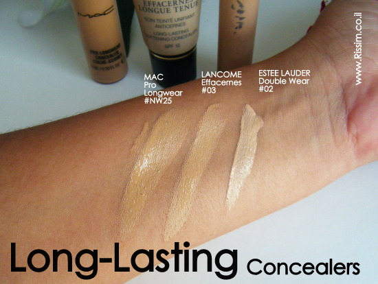 long lasting concealers swatches