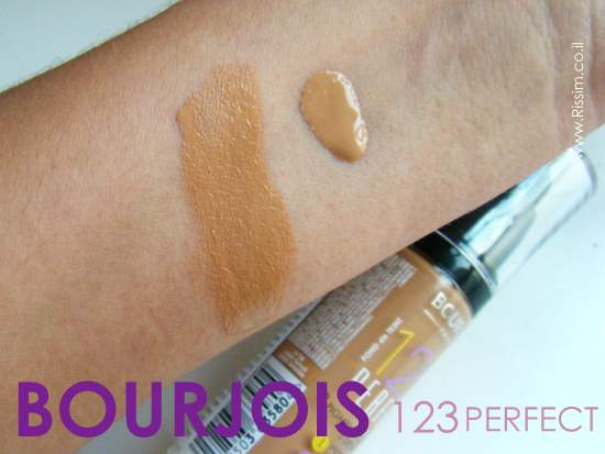 Bourjois 123 Perfect Foundation #58 swatches