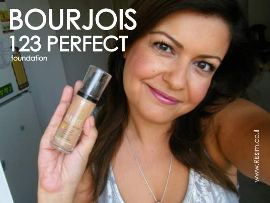 Bourjois 123 Perfect Foundation on face