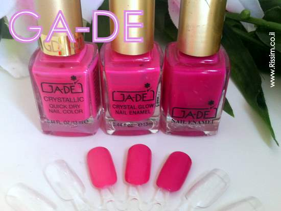 GADE PINK NAIL POLISHES