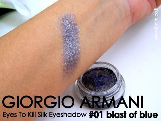GIORGIO ARMANI Eyes To Kill Silk Eye Shadow - # 01 blast of blue swatches