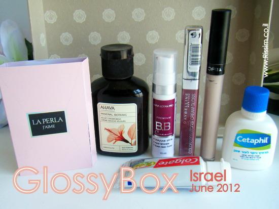 GLOSSYBOX ISRAEL JUNE 2012