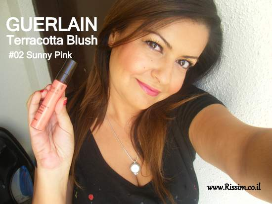 Guerlain Terracotta Blush 02 Sunny Pink swatches on face