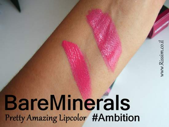 BareMinerals Pretty Amazing Lipcolor #Ambition swatches