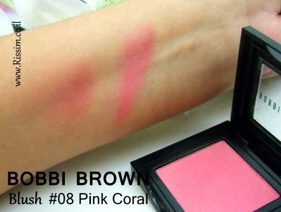 Bobbi Brown #08 Pink Coral Blush swatches