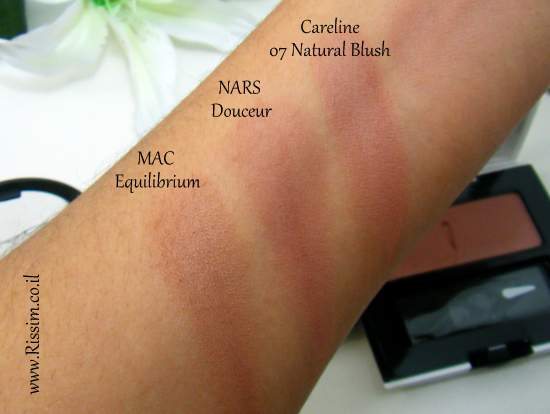 Careline Color Blush 07 Natural Blush swatches VS nars mac