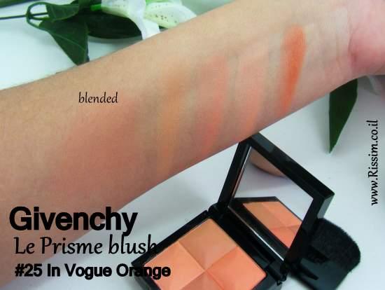 Givenchy Le Prisme blush #25 In Vogue Orange swatches