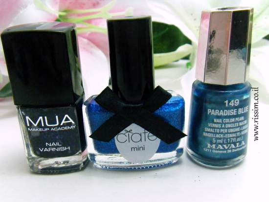 Mavala 149 Paradise Blue and MUA #1 and ciate glass slipper