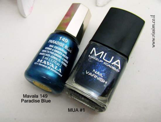 Mavala 149 Paradise Blue and MUA