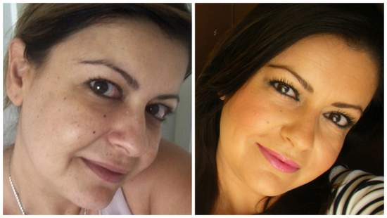 NARS Sheer Glow Foundation #Barcelona before and after
