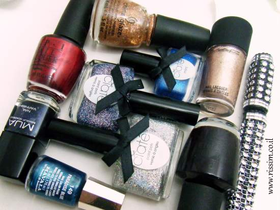 Shimmer and Glitter nail polishes
