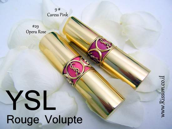 YSL Rouge Volupte #9 Caress Pink & #29 Opera Rose
