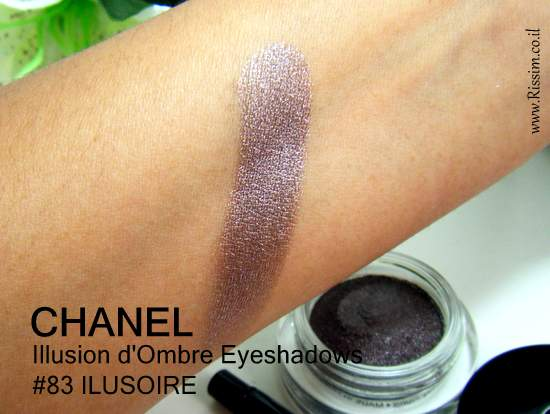 CAHNEL Illusion d'Ombre Eyeshadows 83 ILUSOIRE swatches