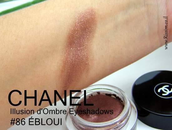 CAHNEL Illusion d'Ombre Eyeshadows 86 ÉBLOUI swatches