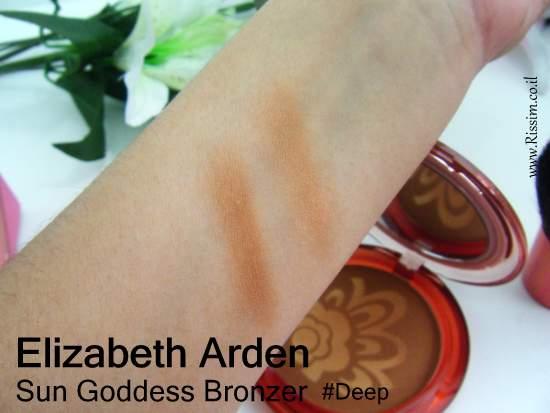 Elizabeth Arden Sun Goddess bronzer #Deep swatches