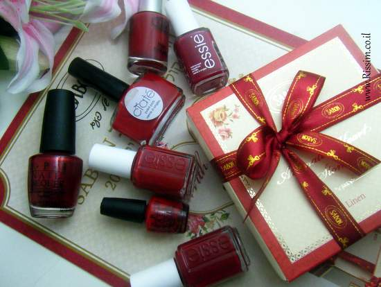 RED nail polishes