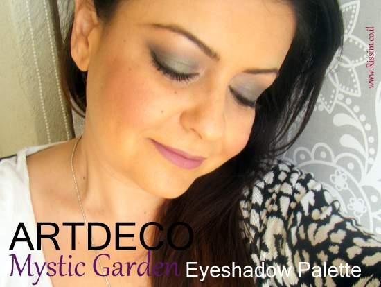 ArtDeco Mystic Garden eyeshadow palette swatches