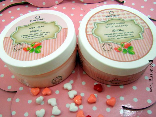 Body Shop Strawberry Body Cream and shower butter