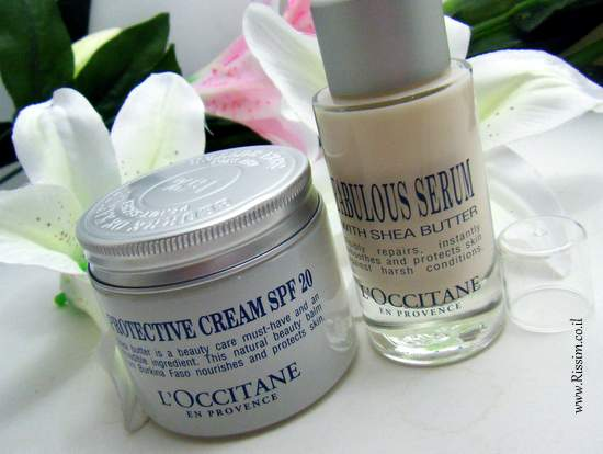 L'occitane Shea Butter day cream & serum