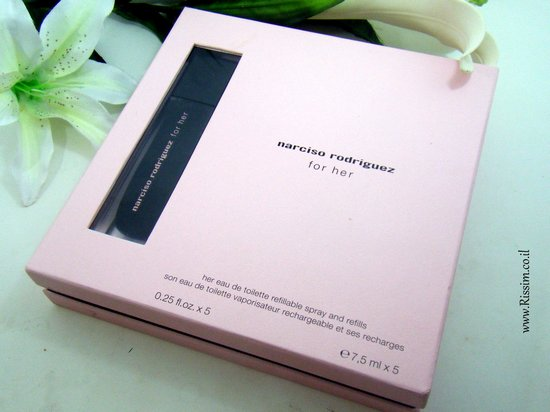 Narciso Rodriguez For Her EDT refillable spray and refills