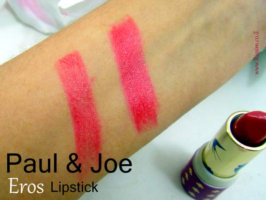 Paul & Joe EROS lipstick swatches