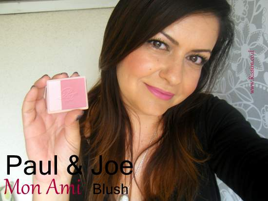 Paul & Joe Mon Ami blush on face