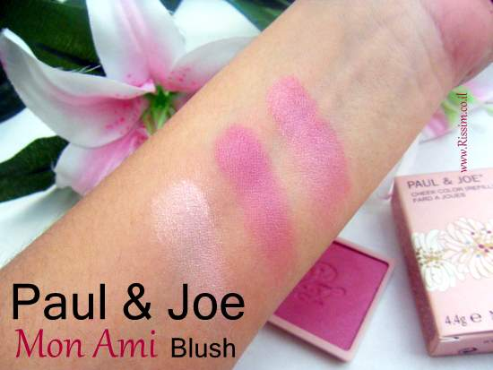Paul & Joe Mon Ami blush swatches