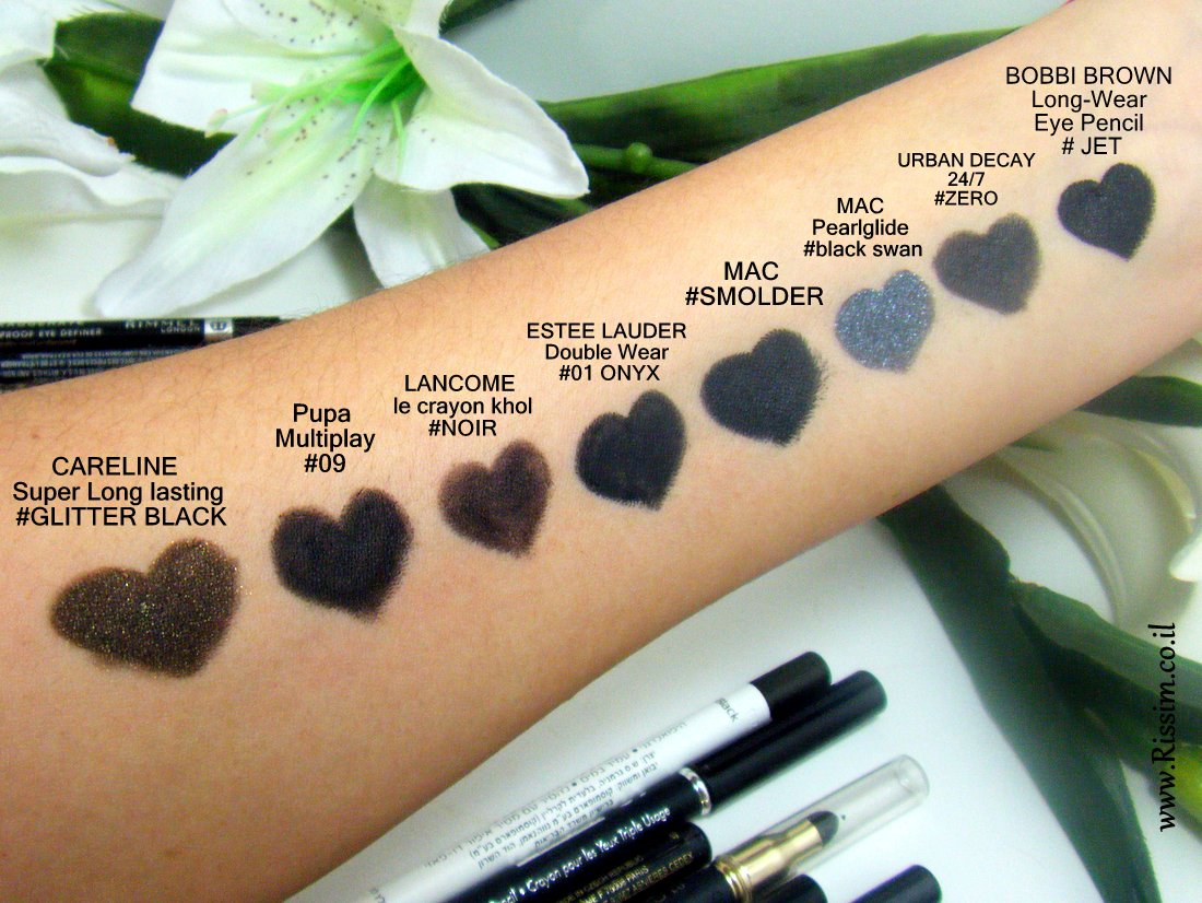 Black Eye pencils swatches